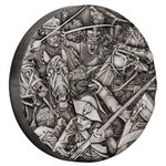 2 $ Dollar Warfare - Hussars - Husaren - High Relief Tuvalu 2 oz Silber 2018 **
