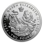 2 Pfund 65th Ann. Sapphire Coronation - Lion & Unicorn British Indian Ocean Territory Silber PP 2018