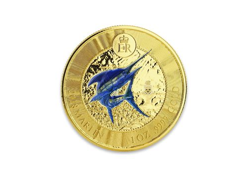 5 $ Dollar Marlin Speerfisch Cayman Islands 1 oz Gold PP 2018 **
