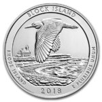 America the Beautiful ATB Block Island National Wildlife Rhode Island USA 5 oz Unzen Silber 2018 **