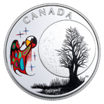 3 $ Dollar 13 Teachings From Grandmother Moon - Freezing Moon Kanada 1/4 oz Silber PP 2018 **