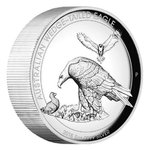 8 $ Dollar Wedge-Tailed Eagle Keilschwanzadler High Relief Australien 5 oz Silber PP 2018 **