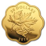 20 $ Dollar Master Club Iconic Maple Leaf Gold Plated Kanada Silber PP 2018 **