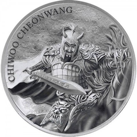 10 Clay Chiwoo Cheonwang South Korea Südkorea 10 oz Silber BU 2018
