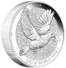 2 $ Dollar End of World War I - Dove - Taube - Friedenstaube Piedfort Australien 2 oz Silber 2018 **