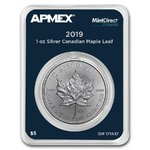 5 $ Dollar Silver Maple Leaf Kanada Apmex MintDirect® Premier 1 oz Silber 2019 **