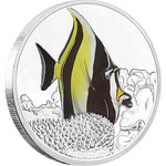 2 $ Dollar Reef Fish Collection - Moorish Idol - Halfterfisch Niue Island 1 oz Silber PP 2019 **