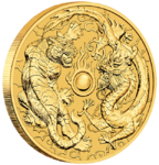 100 $ Dollar Dragon & Tiger Australien 1 oz Gold 2019