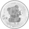 5 Yuan 35th Anniversary Panda Gold Coin - 35 Jahre Panda Gold China 15 Gramm Silber PP 2017