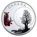 3 $ Dollar 13 Teachings From Grandmother Moon - Little Spirit Moon Kanada 1/4 oz Silber PP 2018 **