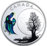 3 $ Dollar 13 Teachings From Grandmother Moon - Big Spirit Moon Kanada 1/4 oz Silber PP 2018 **