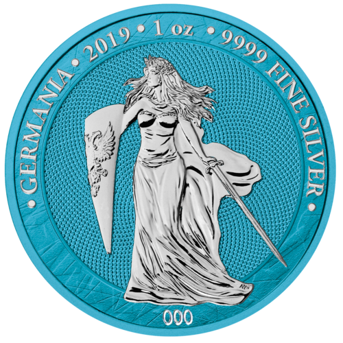 5 Mark Germania Space Blue 1 oz Silber BU 2019 **