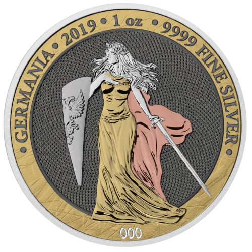 5 Mark Germania 6 Prescious Metals - 6 Edelmetalle 1 oz Silber BU 2019 **