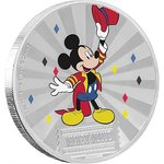 2 $ Dollar Disney Mickey Mouse & Friends Carnival - Karneval Niue Island 1 oz Silber 2019 **