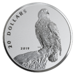 20 $ Dollar The Valiant One - Bald Eagle Weißkopfseeadler Kanada 1 oz Silber Reverse Proof 2019 **