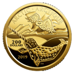 200 $ Dollar Canadian Coastal Symbols - The Arctic - Die Arktis Kanada 1 oz Gold PP 2018