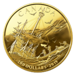 200 $ Dollar Early Canadian History - Arrival of the Europeans Kanada 1/2 oz Gold PP 2019