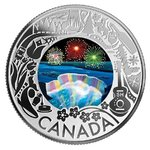 3 $ Dollar Canadian Fun and Festivities - Niagara Falls Winter Lights Kanada 1/4 oz Silber 2019 **