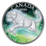 5 Dollar Frozen Collection - Wildlife Cougar - Puma 1 oz Silber 2016 **