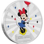 2 $ Dollar Disney Mickey Mouse & Friends Carnival - Minnie Mouse Niue Island 1 oz Silber 2019 **