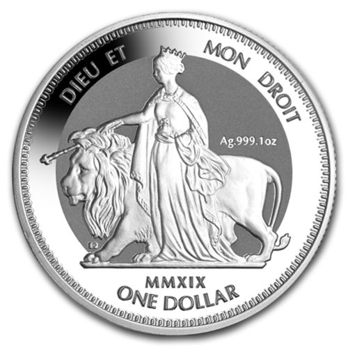 1 $ Dollar Una & Lion British Virgin Islands 1 oz Silber 2019 Frosted BU **