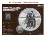 4 x Scrofa + 1 x Scrofa Ghost - The Twelve Guardians - ZI:SIN Südkorea 5 x 1 oz Silber 2019