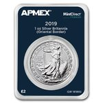 2 Pounds Oriental Border Britannia Großbritannien UK Apmex MintDirect® Premier 1 oz Silber 2019 **