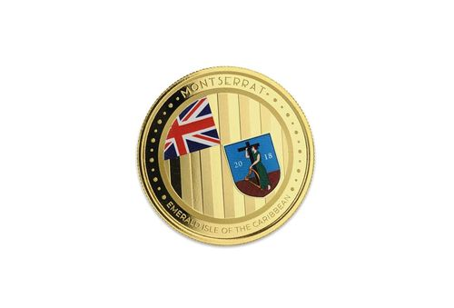 10 $ Dollar EC8 - Eastern Caribbean 8 - Emerald Isle of the Caribbean - Montserrat 1 oz Gold 2018