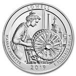 America the Beautiful ATB Lowell National Historic Park Massachusetts USA 5 oz Unzen Silber 2019 **