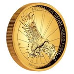 100 $ Dollar Wedge-Tailed Eagle Keilschwanzadler High Relief Australien 1 oz Gold PP 2019