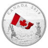 20 $ Dollar Canadian National Flag - Kanadische Flagge Kanada 1 oz Silber PP 2019 **