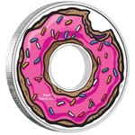 1 Dollar The Simpsons - Donut Tuvalu 1 oz Silber PP 2019 **