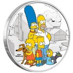 2 Dollar The Simpsons - Family Familie Tuvalu 2 oz Silber PP 2019 **