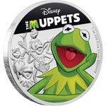 2 $ Dollar Disney - The Muppets - Kermit The Frog Kermit der Frosch Niue Island 1 oz Silber 2019 **