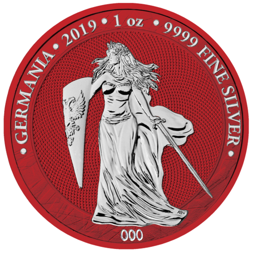 5 Mark Germania Space Red - World Money Fair Edition 1 oz Silber BU 2019 **