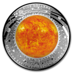 5 $ Dollar Earth And Beyond - The Sun - Die Sonne Australien 1 oz Silber PP 2019 **