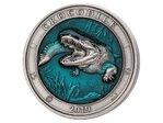 5 $ Dollar Underwater World - Crocodile - Krokodil High Relief Barbados 3 oz Silber 2019