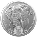 5 Rand BIG FIVE - Elephant - Elefant Südafrika South Africa 1 oz Silber BU 2019 **