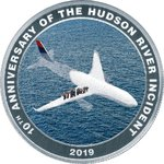 1 $ Dollar Miracle on the Hudson River - Wunder vom Hudson River Cook Islands Silber PP 2019