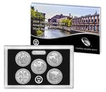 5 x 25 Cents America the Beautiful Quarters Silver Proof Set USA Silber PP 2019 **