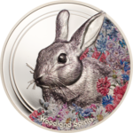 500 Togrog Woodland Spirits - Rabbit - Hase High Relief Mongolei 1 oz Silber PP 2019 **
