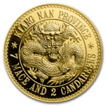 Gold Dragon Dollar Restrike China Kiangnan 1 oz Gold Premium Uncirculated 2019