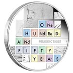 1 $ Dollar 150th Ann. Periodic Table - 150 Jahre Periodensystem Tuvalu 1 oz Silber 2019 PP **