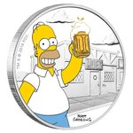 1 Dollar The Simpsons - Homer Simpson Tuvalu 1 oz Silber PP 2019 **