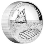 8 $ Dollar 50th Ann. Moon Landing 50 Jahre Mondlandung Australien 5 oz Silber High Relief PP 2019 **
