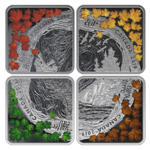 4 x 3 $ Dollar The Elements - Die Elemente Silver Coin Set Kanada Silber PP 2019 **