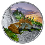 20 $ Dollar Canadian Fauna - The Fox - Der Fuchs Kanada 1 oz Silber PP 2019 **