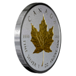 20 $ Dollar 40th Anniversary - 40 Jahre Gold Maple Leaf - Double Incuse Kanada 1 oz Silber 2019 **