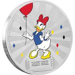 2 $ Dollar Disney Mickey Mouse & Friends Carnival - Daisy Duck Niue Island 1 oz Silber 2019 **
