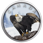 5 $ Dollar Trails of Wildlife -  Bald Eagle Weißkopfseeadler Maple Leaf 1 oz Silber Kanada 2019 **